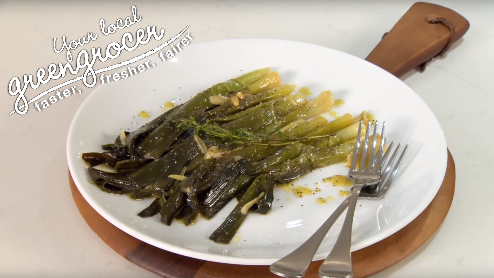 Braised Leeks with Thyme - Your Local Greengrocer