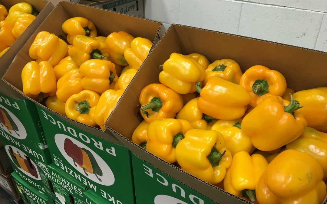 Even more capsicum! Red, green and yellow
