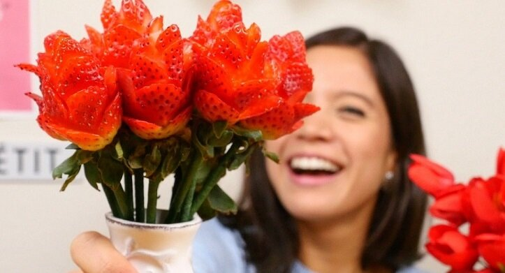 How To Make a Strawberry Rose Bouquet for Valentines Day!